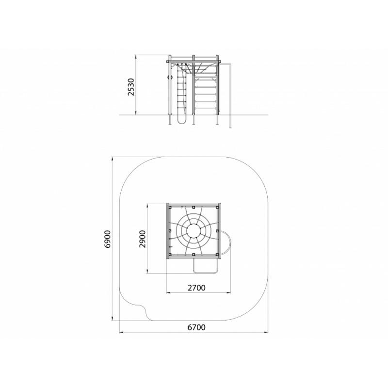 СО 1.121 Спортивный комплекс Торнадо с шестом
