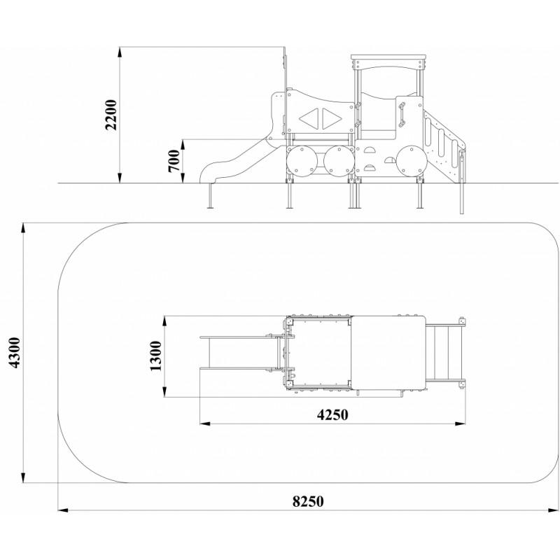 МФ 4.051 Паровоз с лестницей