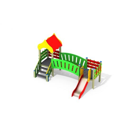 ДИК 2.093 Детский игровой комплекс Семицветик Н=700