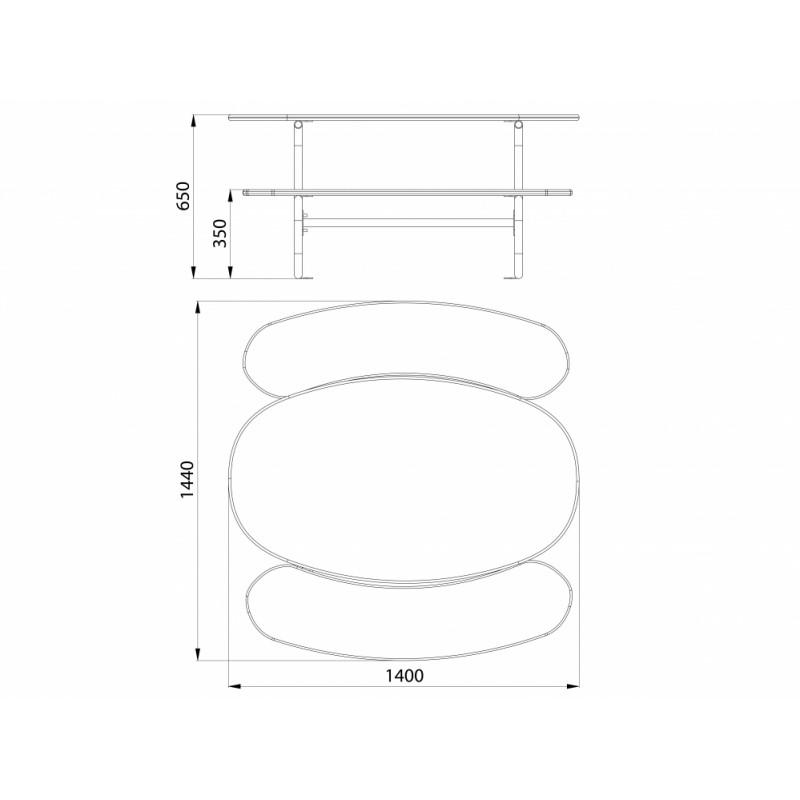 МФ 2.03 Столик со скамейками