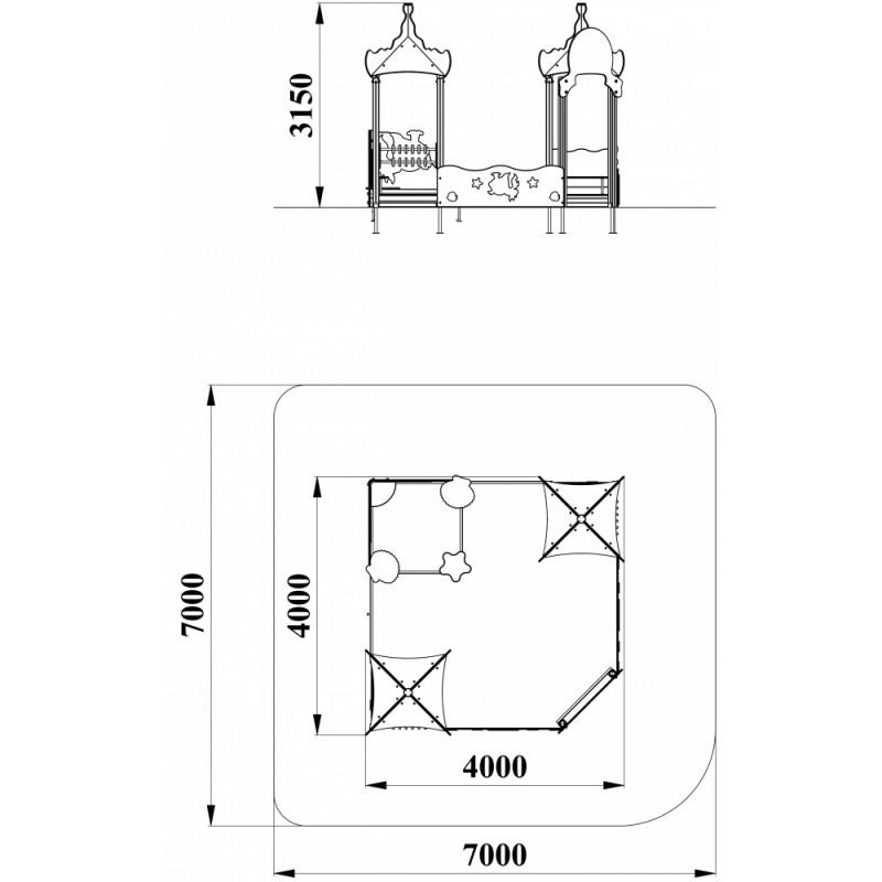 МФ 3.301 Песочный дворик Золотая рыбка без горки