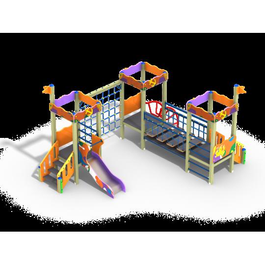ДИК 3.121 Детский игровой комплекс Рыбка Граффити Н=700