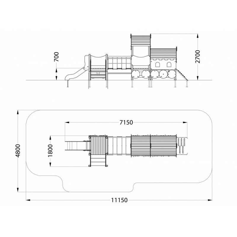 МФ 4.061 Локомотив с 1 вагоном