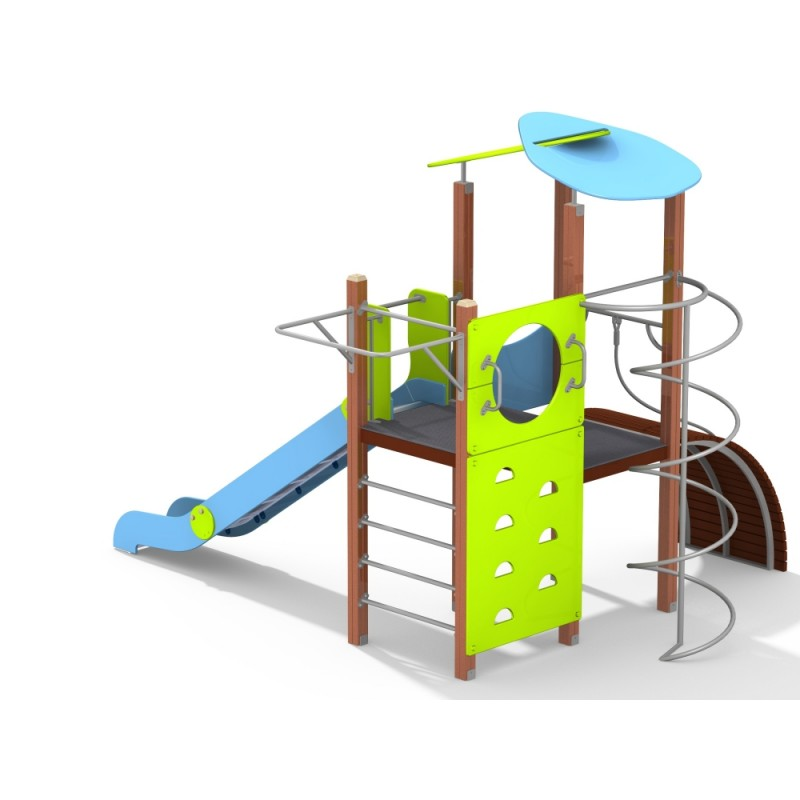 ДИК 1.230-С26/11,32 Детский игровой комплекс Универсал с горкой