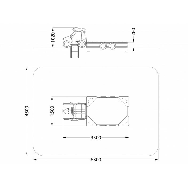 МФ 3.421 Песочница Джип ДПС