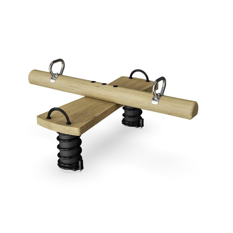 ДИО 3.697.01 Качалка балансир на двух пружинах на бревне
