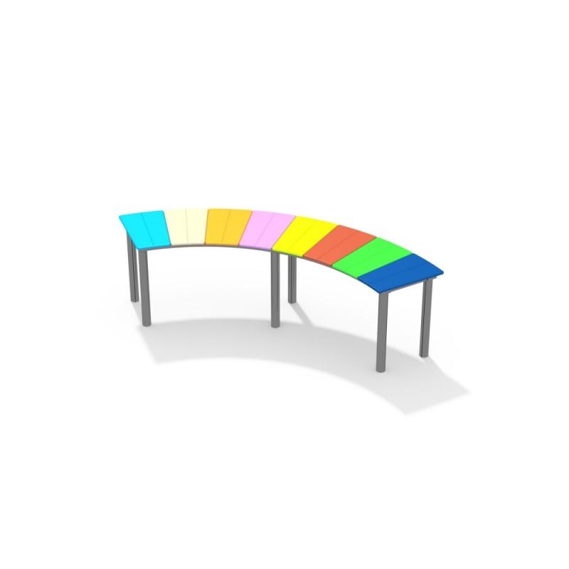 МФ 1.701.11 Скамейка радуга полукруг цинк