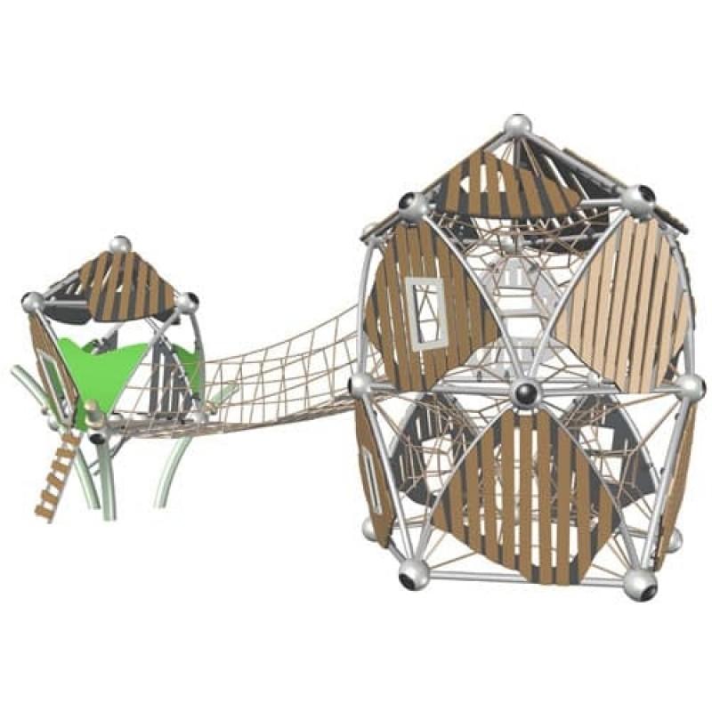 УК 7.422.11 Два пятиугольных домика с мостом цинк