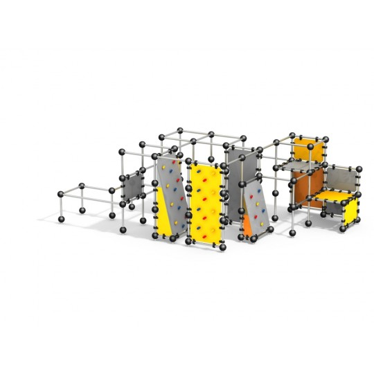 УК 7.710.11 Комплекс стен для паркура цинк