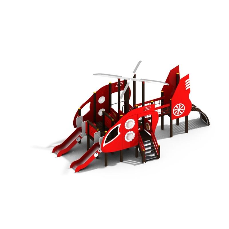 ДИК 2.38 Детский игровой комплекс Вертолет с двумя горками