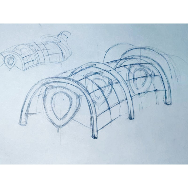 УК 7.911.11 Флекс гимнастический тунель цинк