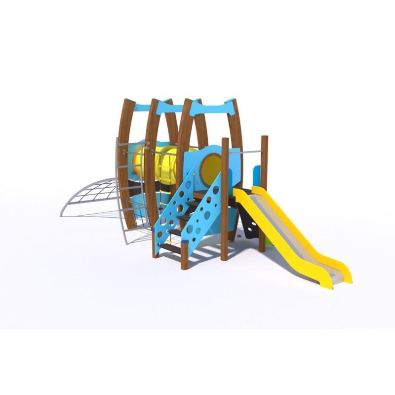 УК 7.927.11 Флекс башня с тунелем и горкой цинк