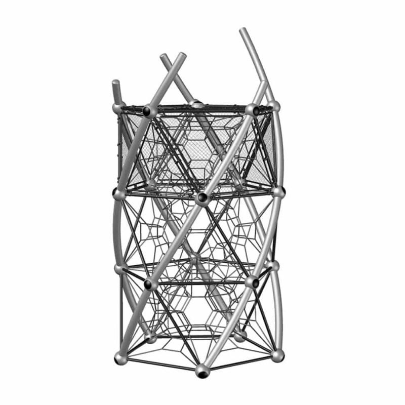 УК 7.451.11 Башня три этажа с сетками цинк