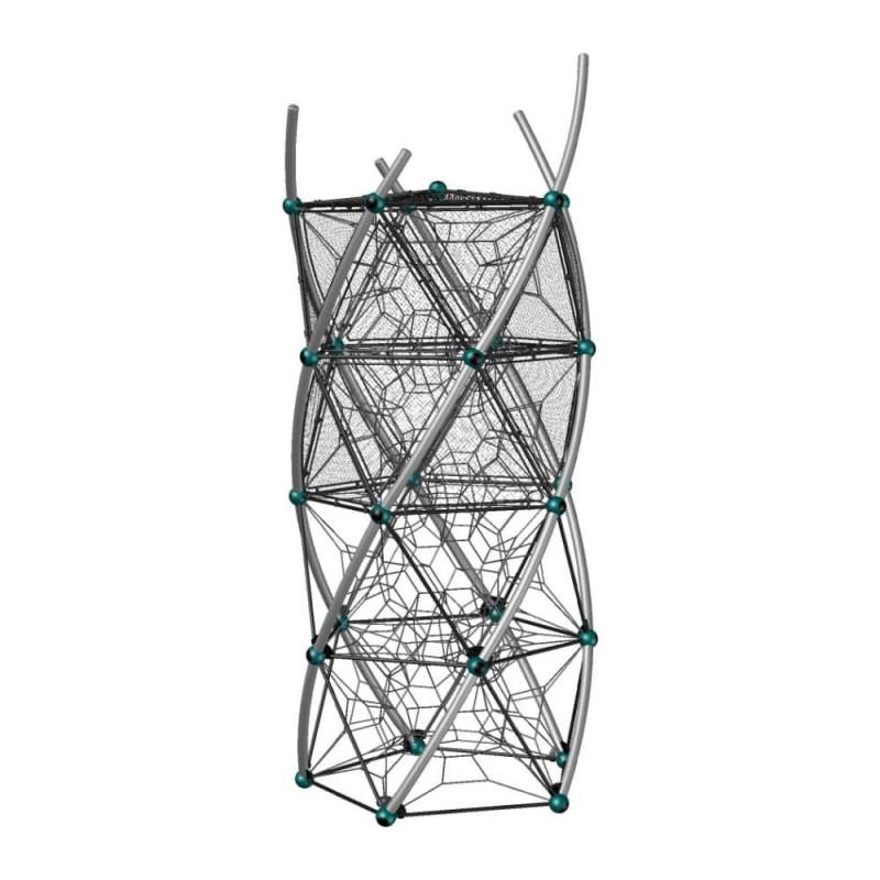 УК 7.452.11 Башня четыре этажа с сетками цинк