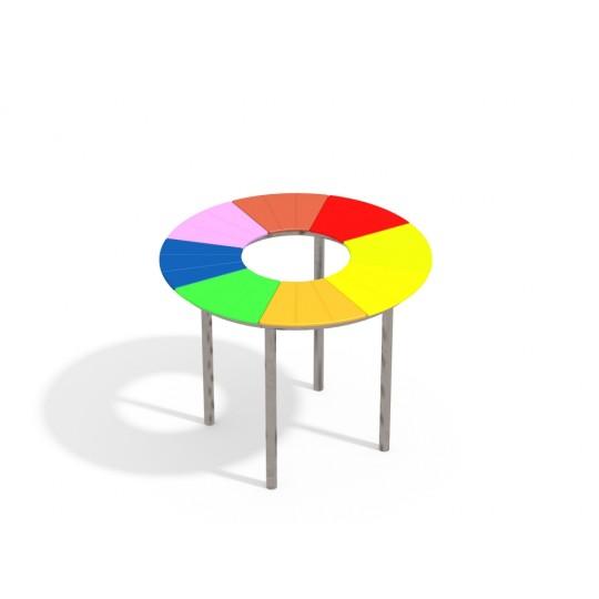 МФ 2.302.01 Столик радуга круглый нерж