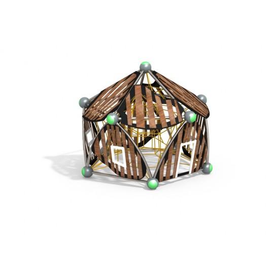 УК 7.421.11 Пятиугольный домик с сеткой цинк