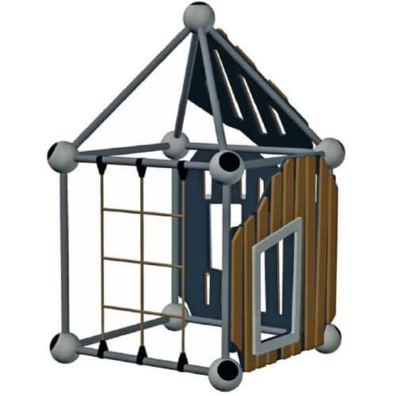 УК 7.430.11 Квадратный домик с окном цинк