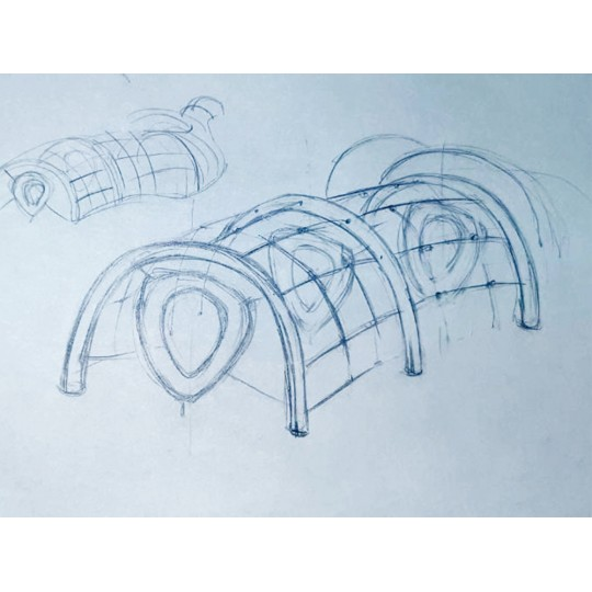 УК 7.911.01 Флекс гимнастический тунель нерж