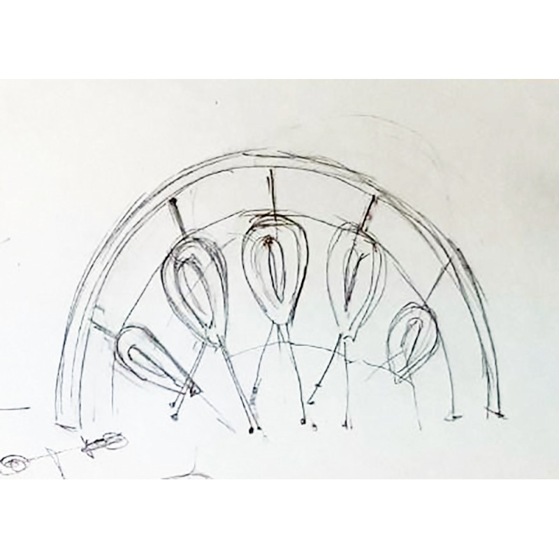 УК 7.460.11 Арка с подвесными треугольными лазами цинк